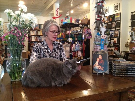 with Annie at Books and Company in Lexington, VA