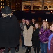 Sarah on a Jack the Ripper tour in London